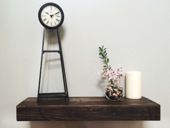 Chunky Rustic Reclaimed Wood Floating Shelves by Studio8to10
