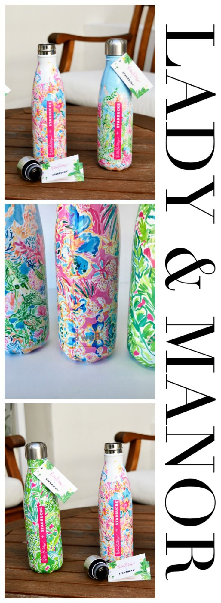 Starbucks Collaboration : Lilly Pulitzer + S'well limited edition water bottles. {LadyAndManor.com}