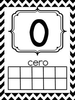 Teaching Dual Language?  These number posters are red and black chevron and use the numbers 0-20 IN SPANISH.   They provide visuals of the number by using tally marks, ten frames, and dice. The number word is also listed.   All of the even numbers are black and all of the odd numbers are red. This makes it easier for students when learning even and odd numbers.   In my classroom I printed on card stock and laminated and they were ready to use!  Great for dual language and ESL!