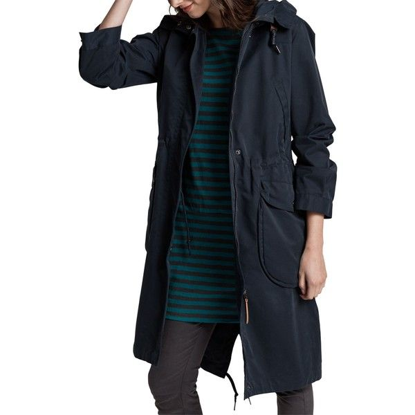 Seasalt RAIN® Collection Jibe Slouchy Waterproof Parka ($215) ❤ liked on Polyvore featuring outerwear, coats, long oversized coat, hooded parka, hooded leather coat, knee length coat and hooded coat