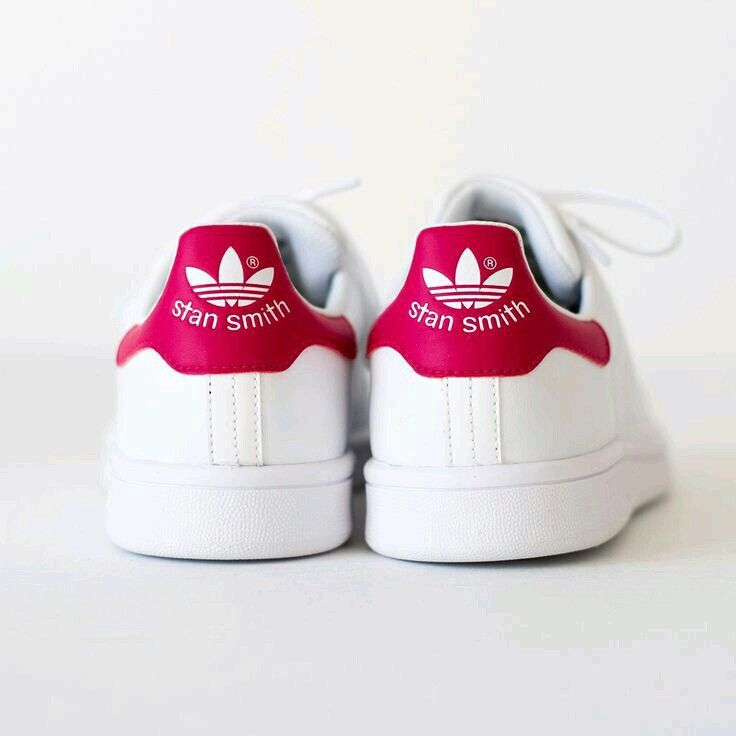 Red stan smith shoes
