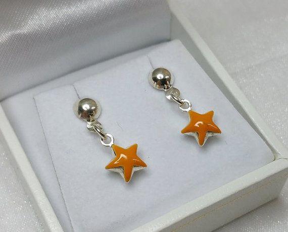 Kinder Sterne Ohrstecker Ohrringe 925 Silber Sternchen von myduttel