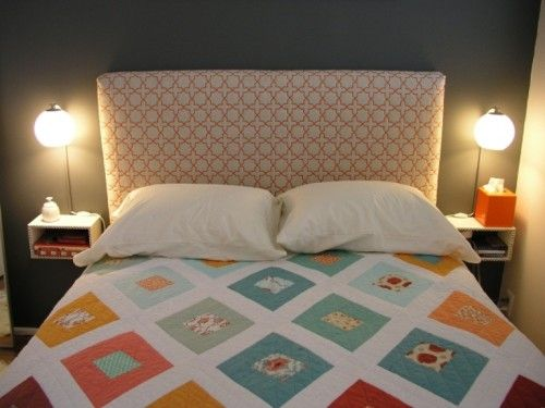 DIY Floating Night Stands For Small Bedrooms | Shelterness...Since I have resolved my problem of the bed, for one room, anyway- and I will post pictures after the paint and installation of it- a floating set of nightstands is actually the only option.