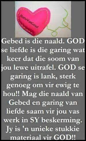 Gebed & Godsliefde is die naald & garing wat keer dat ons lewens uitrafel  #Afrikaans #Analogies #Prayer