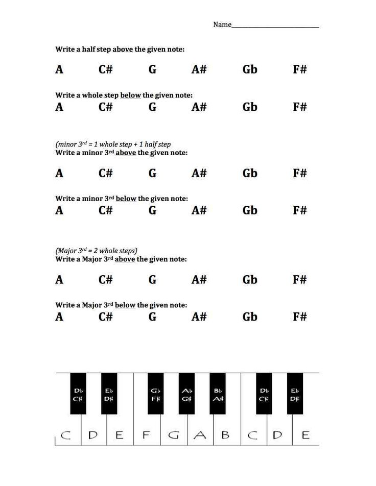 whole steps and half steps worksheet free pdf music worksheets pinterest sheet music. Black Bedroom Furniture Sets. Home Design Ideas