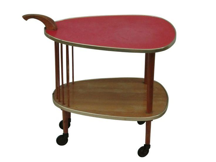 Tablettwagen Teewagen Servierwagen Barwagen Rolltisch Rockabilly 50s tea trolley | eBay