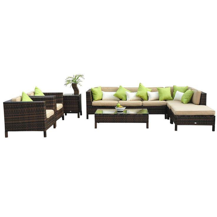 meer dan 1000 ideeën over polyrattan lounge set op pinterest, Garten und Bauen