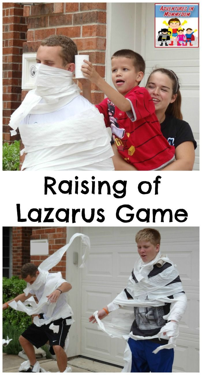 Resurrection of Lazarus game for children's ministry or VBS