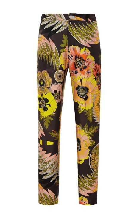 Floral-Print Cropped Silk Pants by Msgm Now Available on Moda Operandi