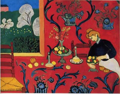 La stanza rossa, H. Matisse, olio su tela (1908)