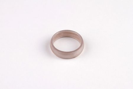 Flexible wedding ring place holders for those that use their hands a lot.