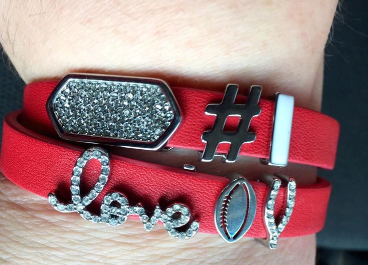 OKLAHOMA OU FOOTBALL GAME DAY BRACELET CUSTOM COLORS www.keep-collective.com/with/shellylester