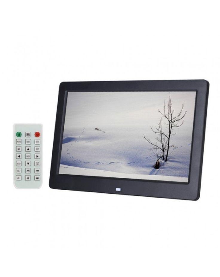 10.1 inch HD Wide Screen Digital Photo Frame with Holder & Remote Control, Allwinner E200, Alarm Clock / MP3 / MP4 / Movie Player(Black) #0