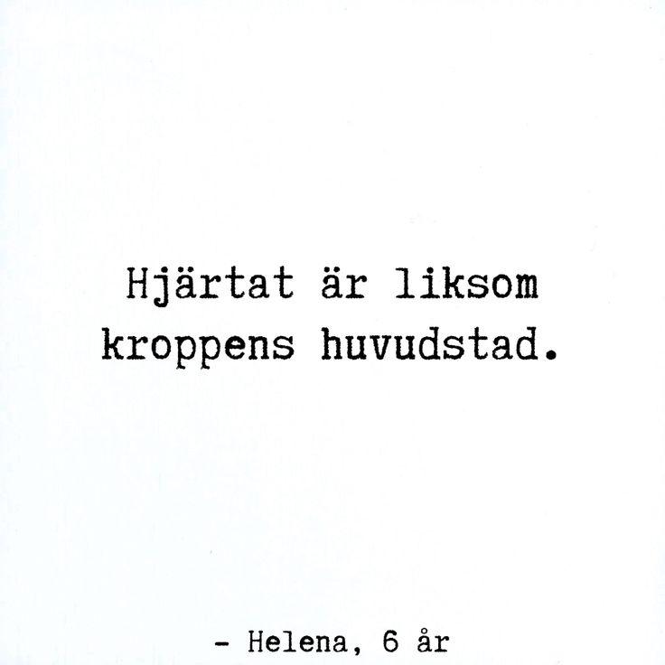 the heart is like - the body's capital city (Helena 6 year)