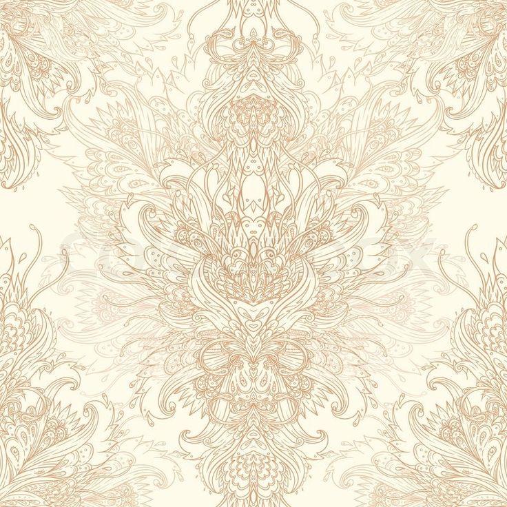 3129016 Vintage Vector Background For Textile Design Wallpaper