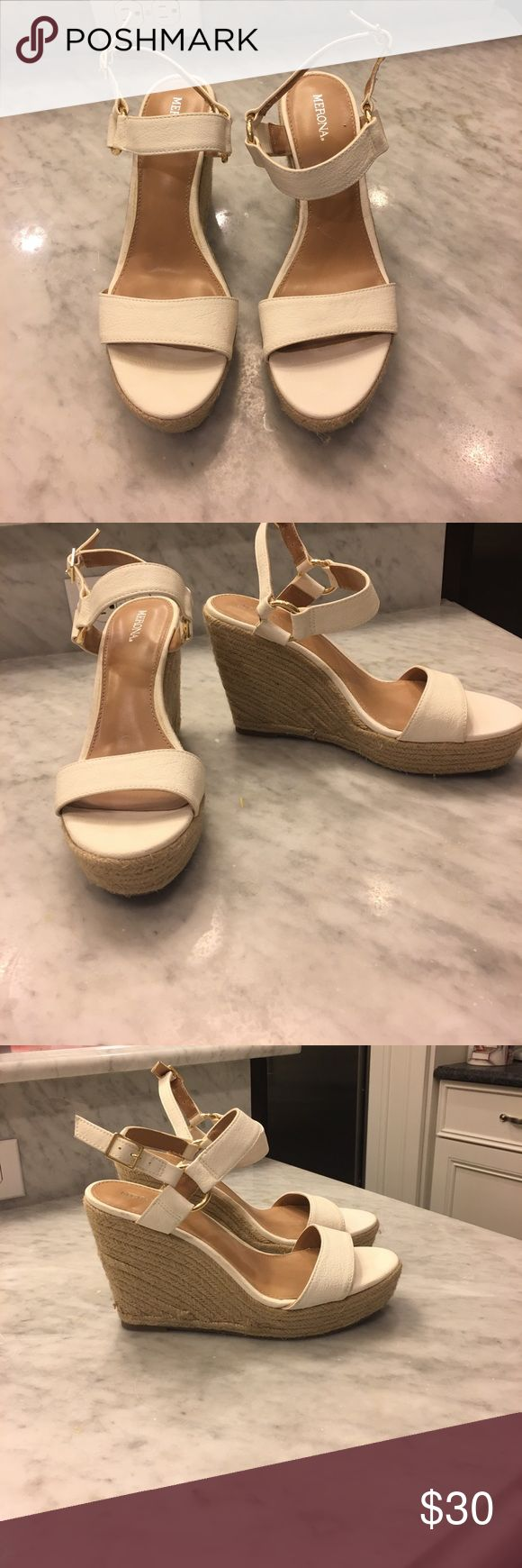White wedge sandals White wedge sandals size 8 never been worn outside Shoes Wedges