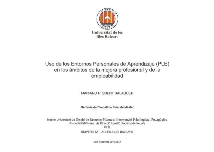 Éste documento me sirvió de base para la presentación de mi Trabajo Fin de Master. Para mi resultan importantes los planteamientos elaborados a partir de la en…