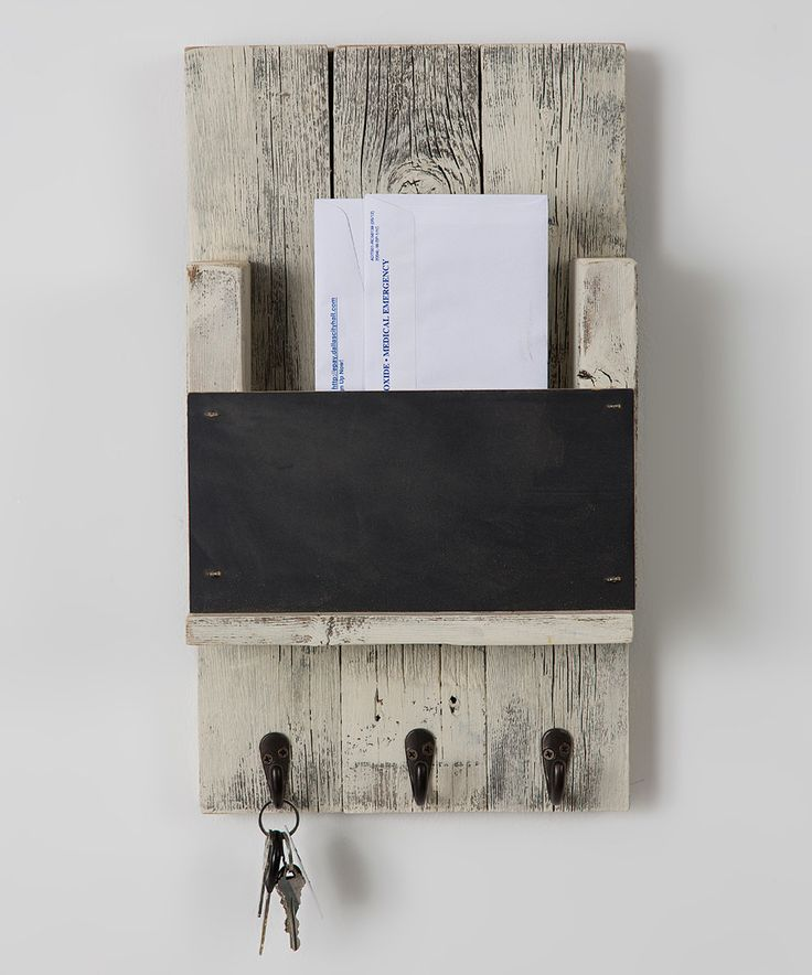 Look at this #zulilyfind! Mail Slot With Chalkboard & Hooks by Drakestone Designs #zulilyfinds