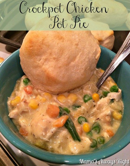 Crockpot Chicken Pot Pie--this is a lighter recipe with less calories, but still delicious and perfect comfort food!