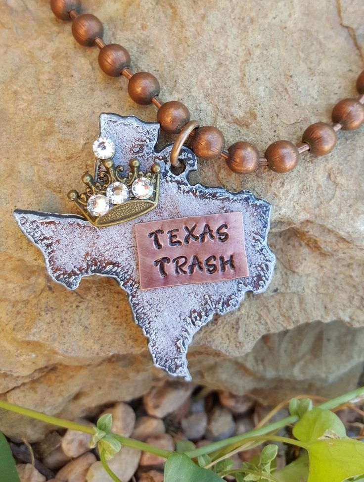 COWGIRL BLING NECKLACE TEXAS TRASH Crown Queen Copper ARTISAN CRAFTED USA Gypsy…