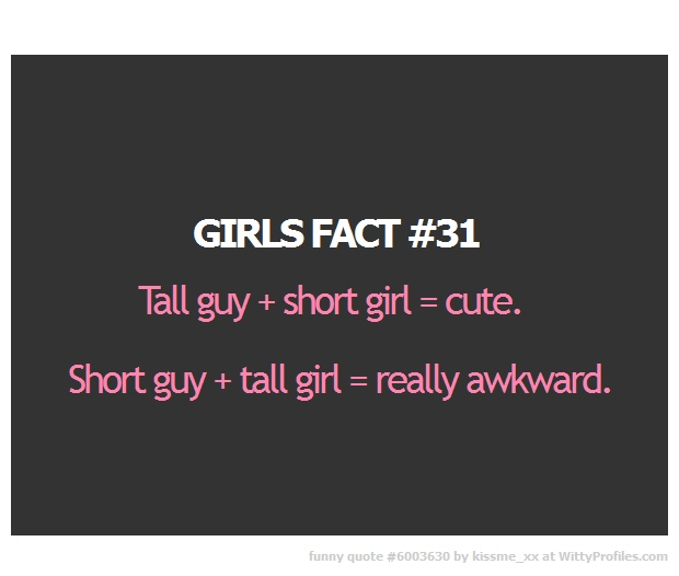 Quotes About Short Girls And Tall Guys images