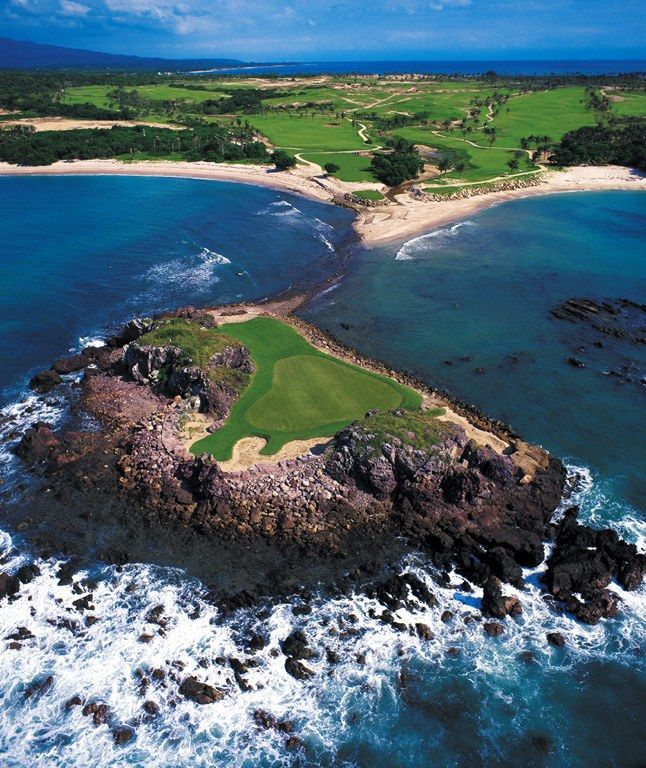 Wedged between mountains, flanked by turquoise waters, and even floating on moveable islands—our sixteenth annual golf poll revealed courses in some very unexpected places.