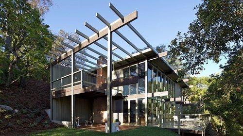 The Thomson House in Pasadena's Poppy Peak neighborhood, designed by Buff, Straub & Hensman