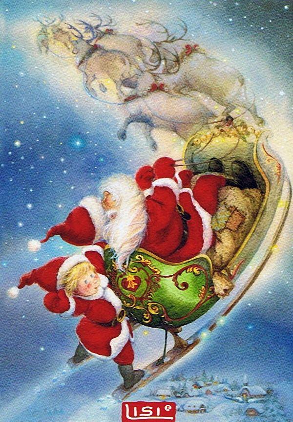 Santa y su ayudante | Lisi Martin