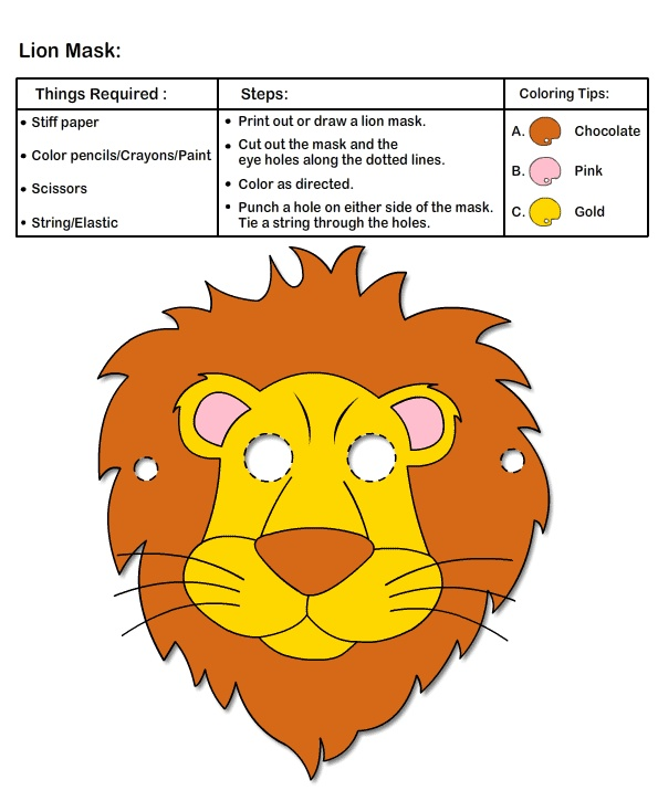 Ideas for Mask Making Arts & Crafts | How to Make Lion Mask