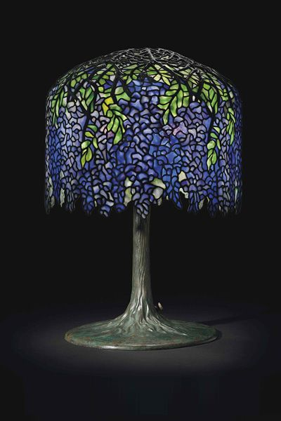 Wisteria Lamp  Year: 1905   Dimensions: 26 ¾ inches high, 18 inches indiameter.