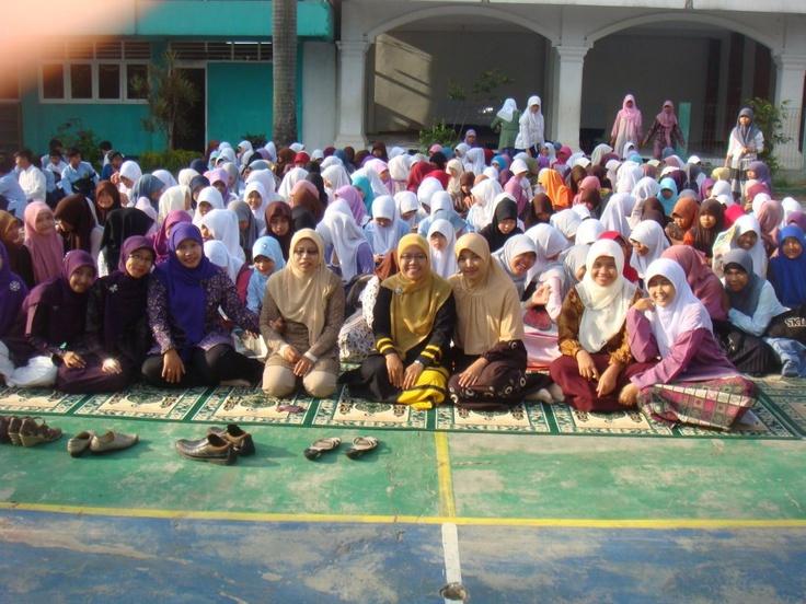 acara maulid nabi di sekolah mts.muhammadiyah 1 depok