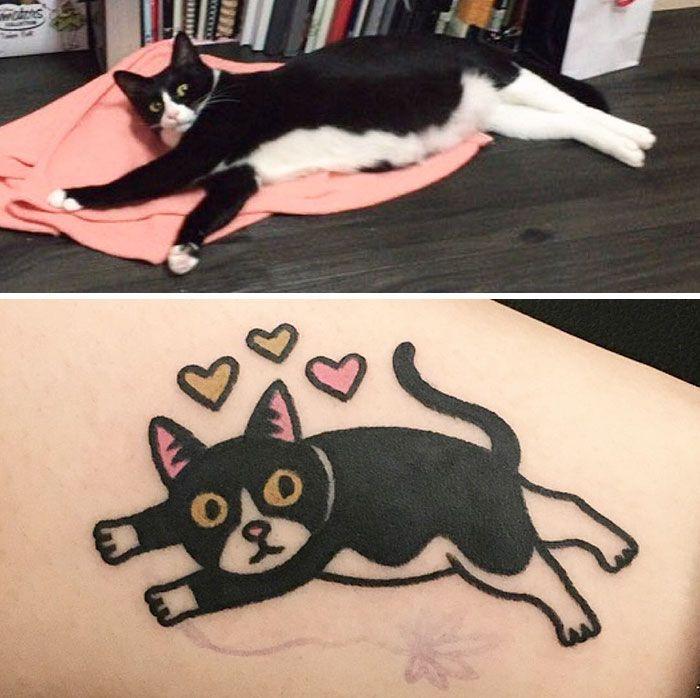 Este tatuador surcoreano convierte a tus mascotas en geniales tatuajes