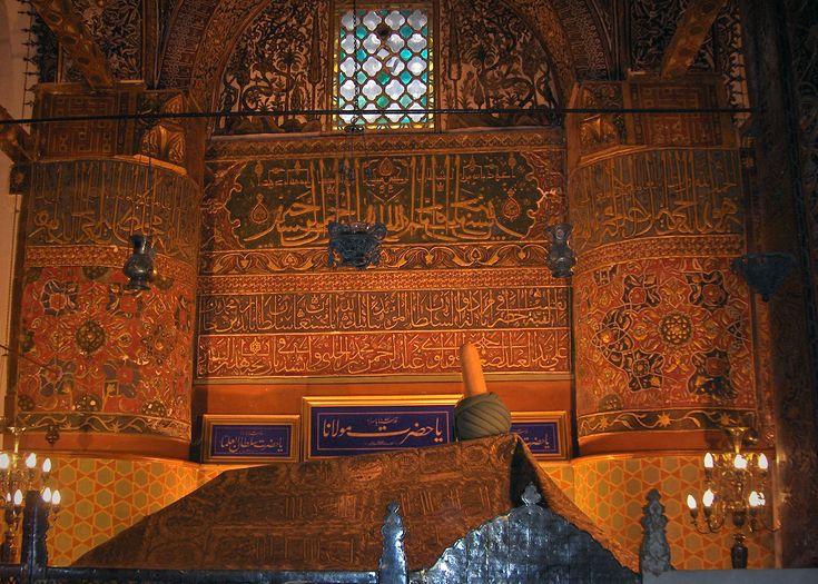 Tomb of Jalal ad-Din Muhammad Rumi; Mevlâna mausoleum; Konya, Turkey