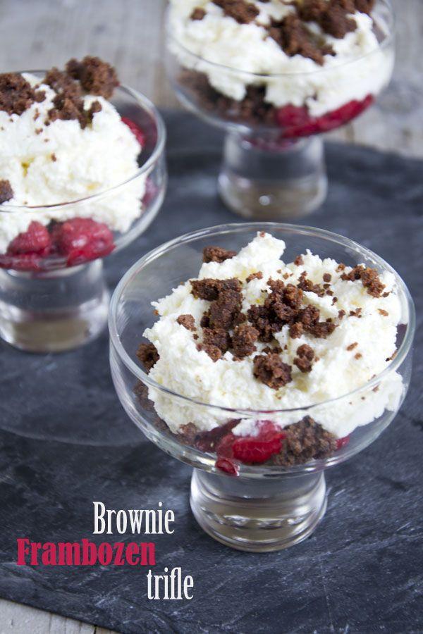 Brownie frambozen trifle  txt