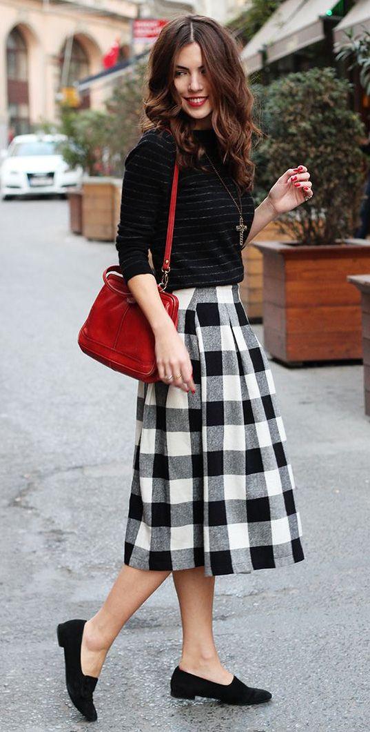 17 Best ideas about Midi Skirt Outfit on Pinterest | Full skirt ...
