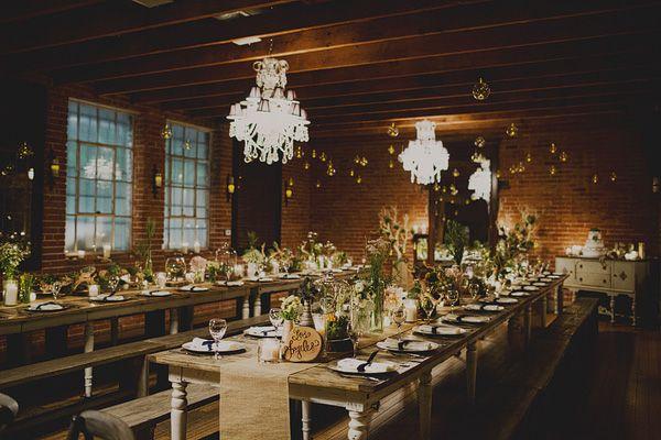 Glam Carondelet House Wedding reception rustic vintage