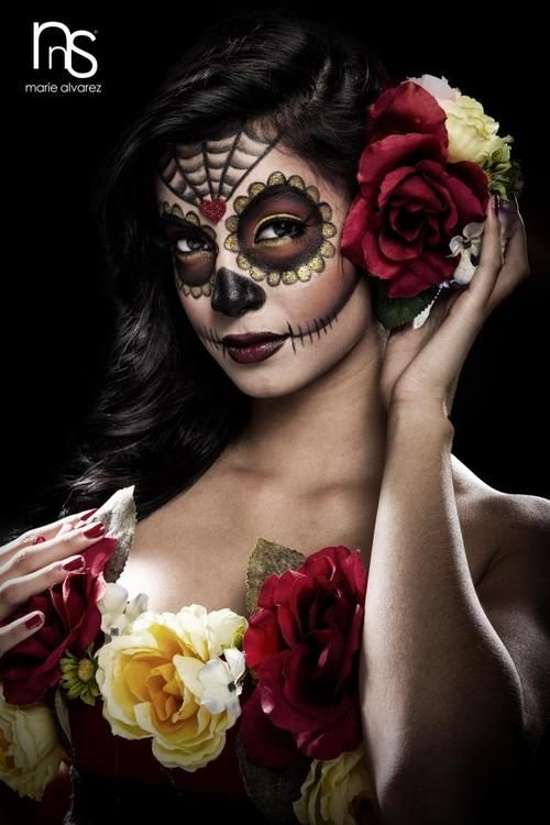 love the look, makeup hait, roses, I LOVE MY culture :)