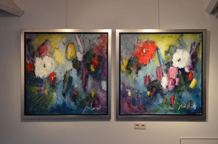 100 x100 cm (2x) Abstract Art by Paul Smidt  www.paulsmidt.nl www.facebook.com/paulsmidtschilderkunst