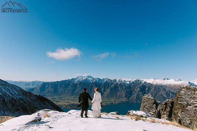 Destination Winter Wedding in the snow on Garden Spurs Queenstown New Zealand