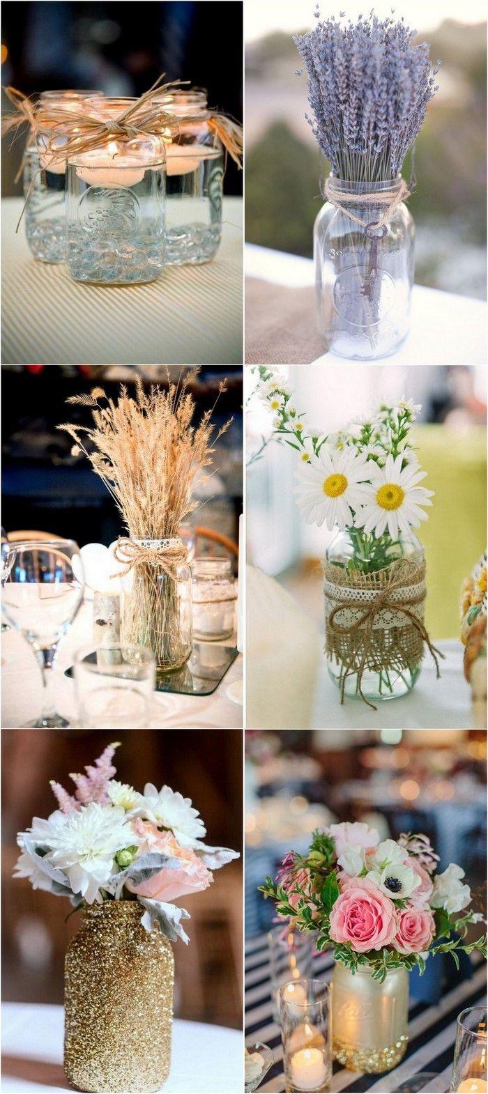 mason jars wedding centerpieces #weddingdecor #weddingideas  #weddingcenterpiece #weddingreception