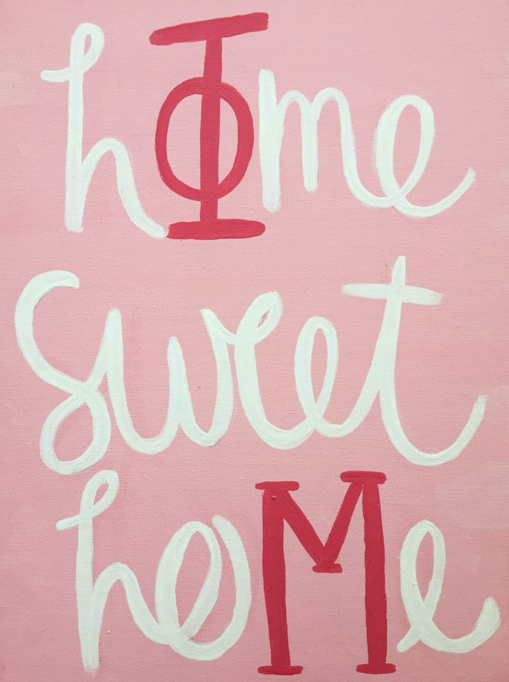 Phi Mu Home Sweet Home Canvas by srattygiftz on Etsy