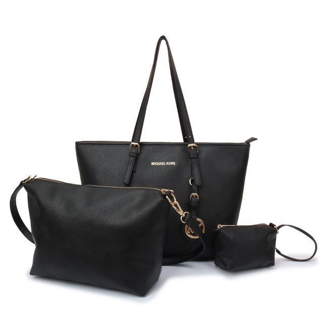 Michael Kors Jet Set Travel Large Black Totes Are High Quality And Cheap  Price!