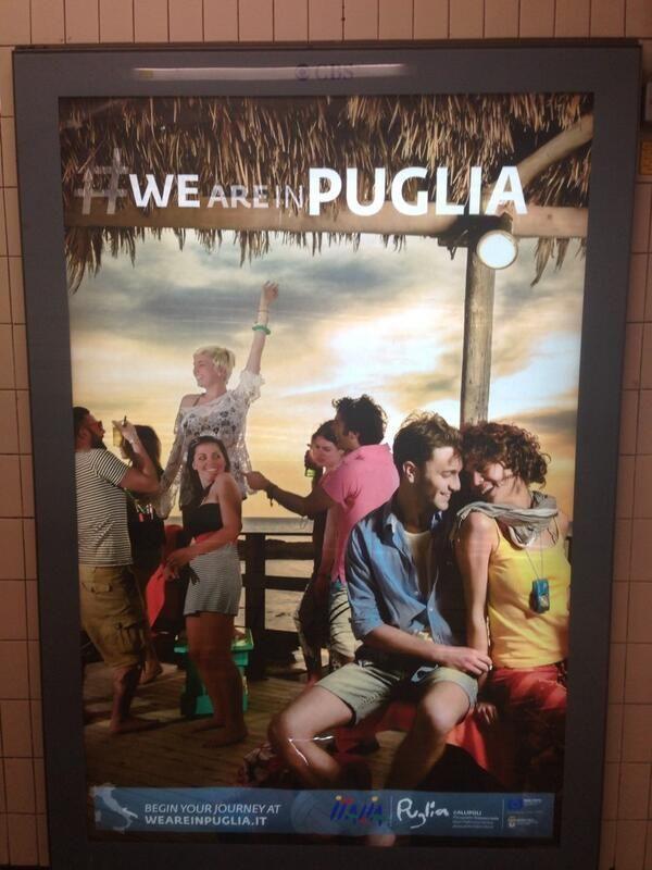 My hometown advertised in London ❤ #weareinpuglia www.weareinpuglia.it