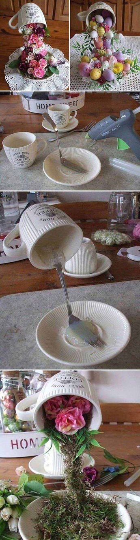 Alice's Easter Cup Tea Party Top 27 süß und geldsparend DIY Handwerk, um