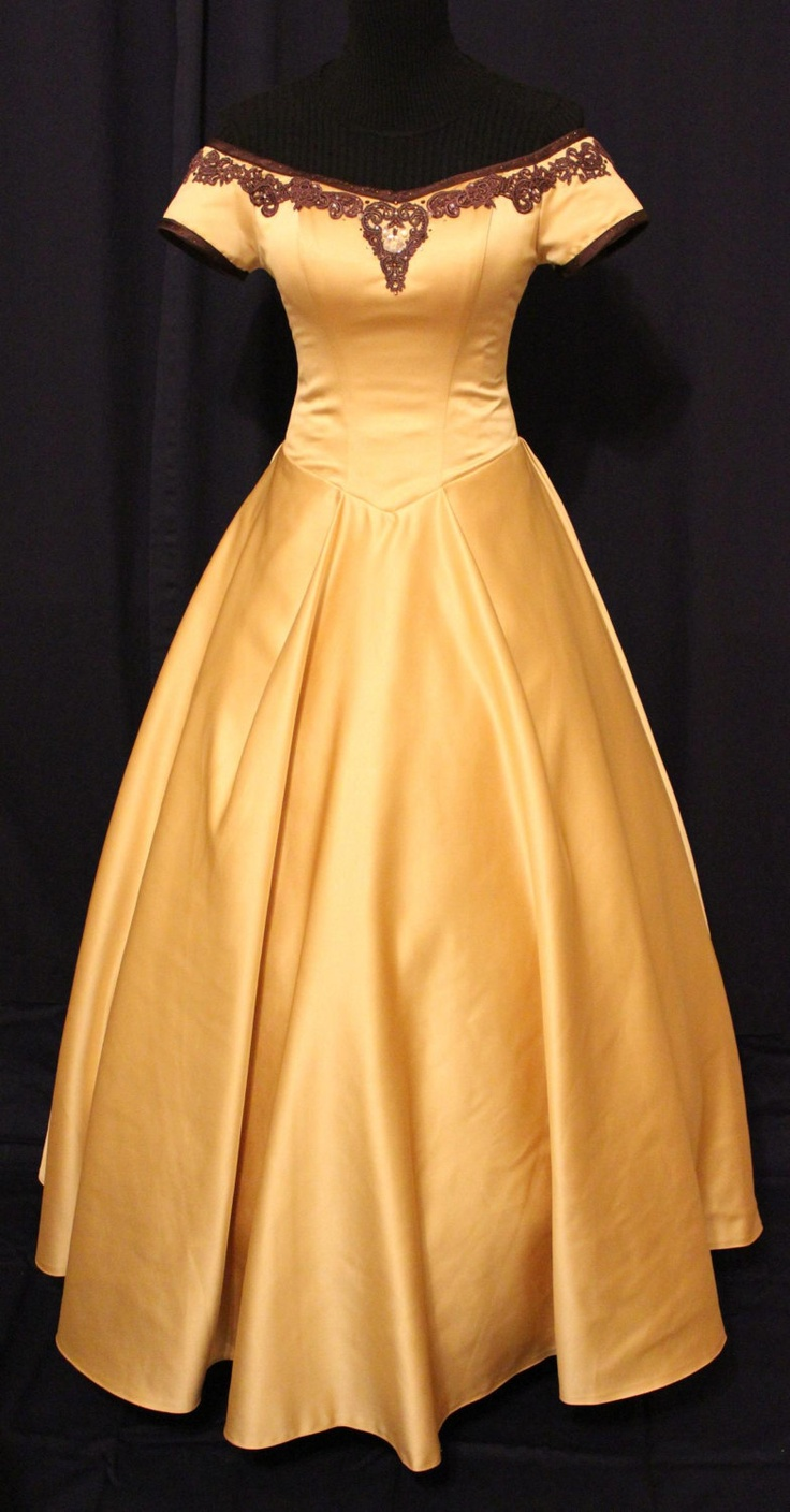 "Replica of Belle's dress from the hit show ""Once Upon A Time"". Absolutely love it!"