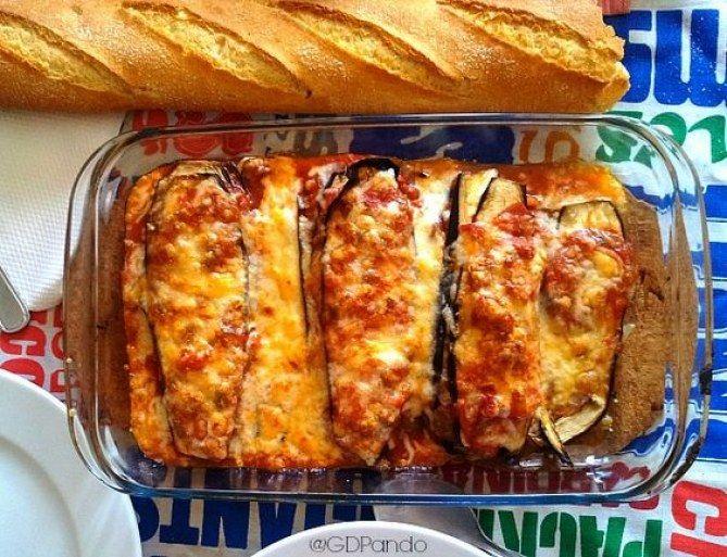 berenjena al horno con salsa de queso