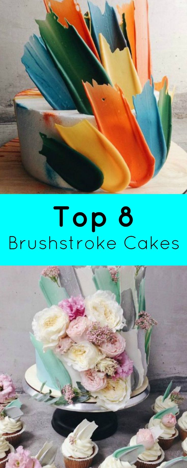 Top 8 Brushstroke Cakes | I'm sure that you have all seen the cakes getting around with beautiful chocolate shards that resemble paint brush strokes? | http://magnificentmouthfuls.com.au/2017/04/10/top-8-brushstroke-cakes/