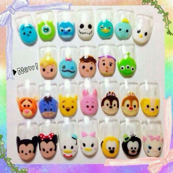 Tsum Tsum Nails total life nail hacksssssssssssssssssssss!!!!! tsum tsum it up #…
