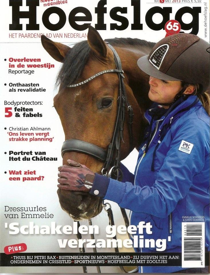 L'amazzone olandese Emmelie Scholtens, testimonial Kep Italia, protagonista della copertina della rivista di equitazione Hoefslag di Maggio. Hoefslag è una delle riviste di riferimento per il nostro settore nei Paesi Bassi.