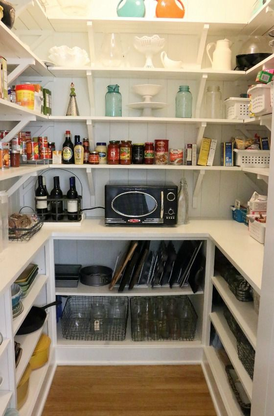 Best 25 microwave in pantry ideas on pinterest for Large walk in pantry